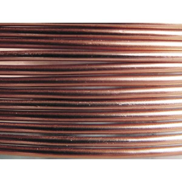 5 Mètres fil aluminium marron clair 2mm - Photo n°1
