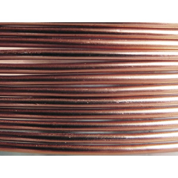 10 Mètres fil aluminium marron clair 2mm - Photo n°1