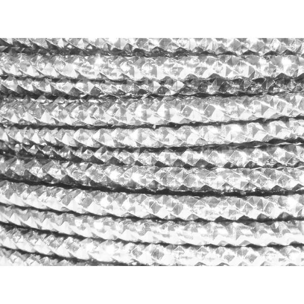 2 Mètres fil aluminium effect couleur argent 4mm - Photo n°1
