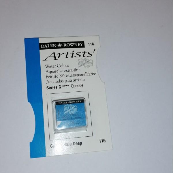 Godet d'aquarelle Daler Rowney - 116 Bleu de cobalt foncé - Photo n°1