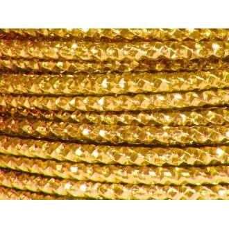 5 Mètres fil aluminium effect de couleur jaune or 4mm