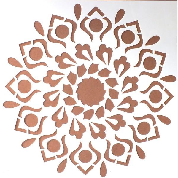 POCHOIR PLASTIQUE 20*20cm : motif fleur (13) - Photo n°1