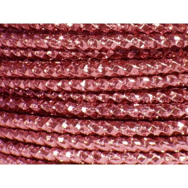 2 Mètres fil aluminium effect couleur rouge rosé 4mm - Photo n°1