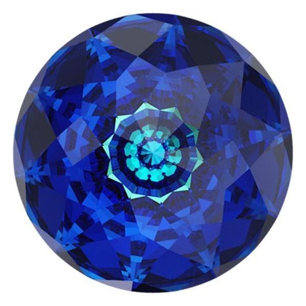 2pcs Crystal Bermuda Blue 001bb Dôme de Pierre Ronde Verre de Cristaux Turquoise 1400 SWAROVSKI Chat - Photo n°1