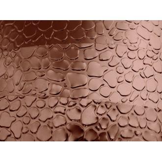 1 Mètre fil aluminium plat optique chocolat 15mm