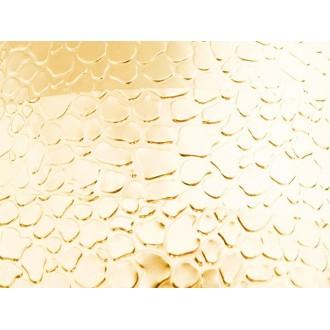 1 Mètre fil aluminium plat optique doré clair 15mm