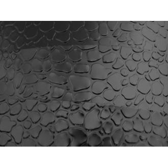 1 Mètre fil aluminium plat optique noir 15mm