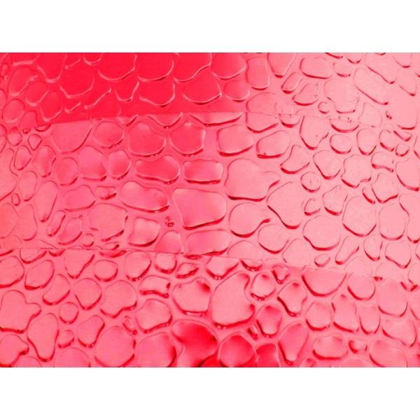 2 Mètres fil aluminium plat optique rouge 15mm - Photo n°1
