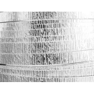 1 Mètre fil aluminium plat strié argent 15mm