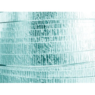 2 Mètres fil aluminium plat strié bleu glacé 15mm
