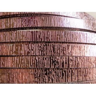 1 Mètre fil aluminium plat strié chocolat 15mm