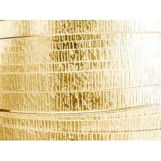 1 Mètre fil aluminium plat strié doré clair 15mm
