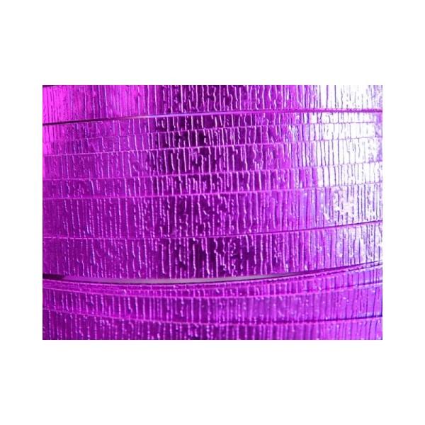 5 Mètres fil aluminium plat strié lavande 15mm - Photo n°1