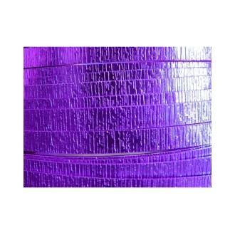 1 Mètre fil aluminium plat strié lilas 15mm