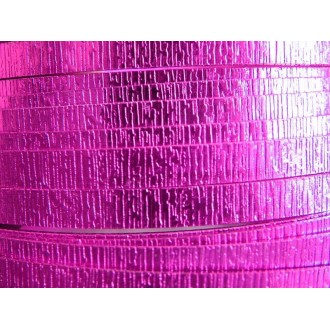 1 Mètre fil aluminium plat strié rose vif 15mm