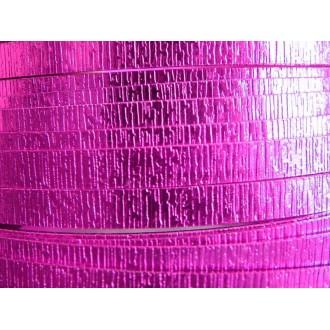 2 Mètres fil aluminium plat strié rose vif 15mm