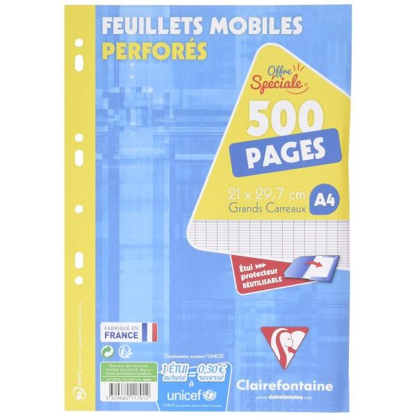 Feuillets mobiles 21x29,7 - 500 pages - Séyès - Photo n°1