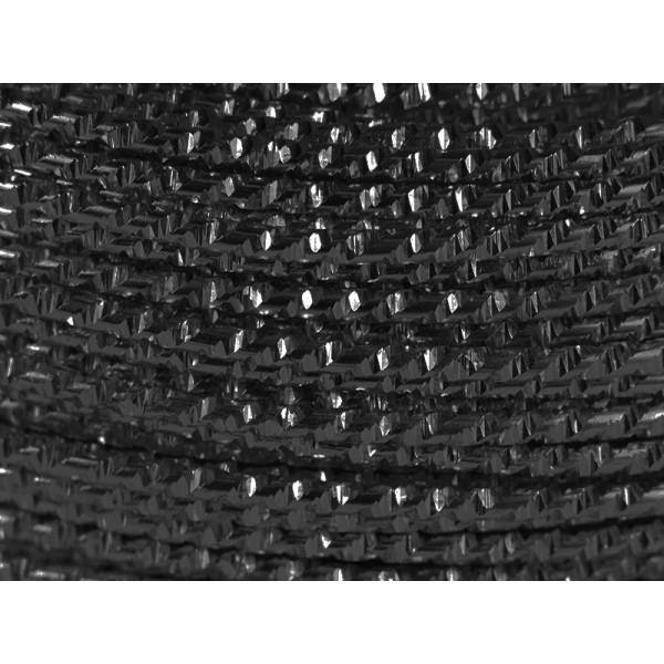 60 Mètres fil aluminium hammer noir 2mm - Photo n°1