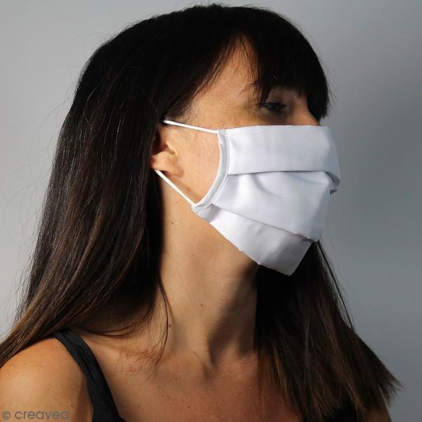 Masque en tissu lavable - 3 couches - Adulte - Photo n°2