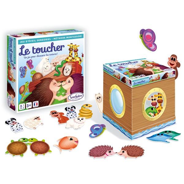 Jeu d'éveil sensoriel - Méthode Montessori - Le toucher - Photo n°1