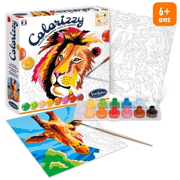 Kit créatif Colorizzy - Peinture par numéros - Animaux de la savane - Photo n°1
