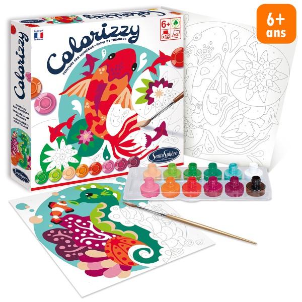 Kit créatif Colorizzy - Peinture par numéros - Poissons - Photo n°1