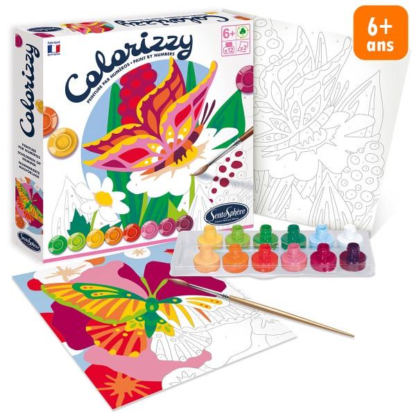 Kit créatif Colorizzy - Peinture par numéros - Papillons - Photo n°1