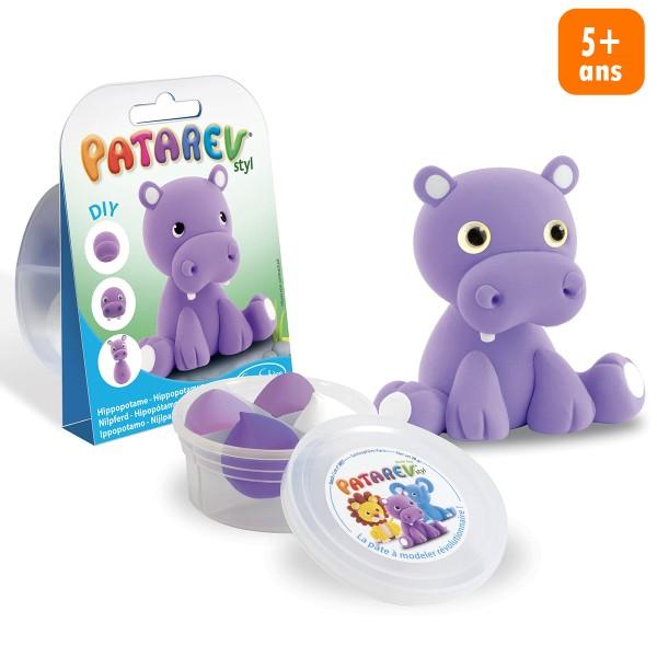 Mini Kit Modelage - Patarev Pocket - Hippopotame - Photo n°1