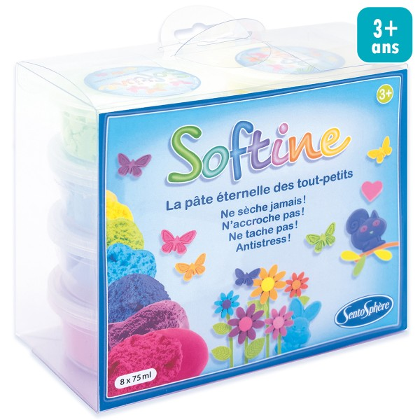 Assortiment pâte à modeler - Softine - 8 pcs - Photo n°1