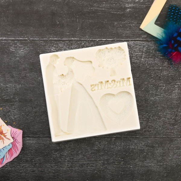 Mariage de Mr Mrs 3D des Moules en Silicone, Argile de Polymère, Gipsum, de la Résine de Bricolage, - Photo n°2