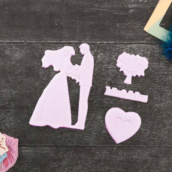 Mariage de Mr Mrs 3D des Moules en Silicone, Argile de Polymère, Gipsum, de la Résine de Bricolage, - Photo n°3