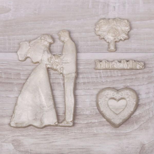 Mariage de Mr Mrs 3D des Moules en Silicone, Argile de Polymère, Gipsum, de la Résine de Bricolage, - Photo n°1