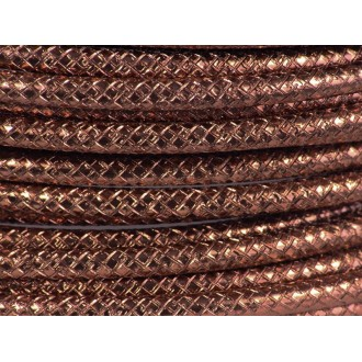 1 Mètre fil aluminium gravé couleur marron 4mm
