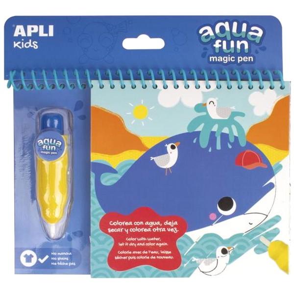 Livre de coloriage à l'eau - Aqua Fun Magic Water - Animaux marins - Photo n°1