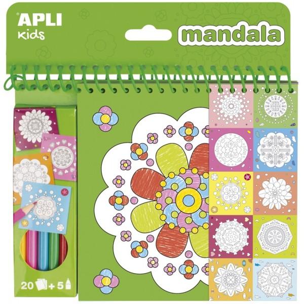 Cahier de coloriage - Mandala - 20 pages - Photo n°1