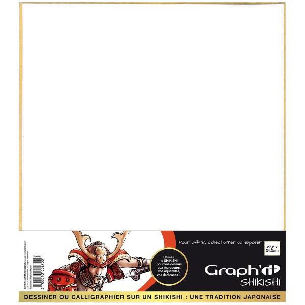 Shikishi planche cartonnée - Portrait - 27,2 x 24,2 cm - Photo n°1