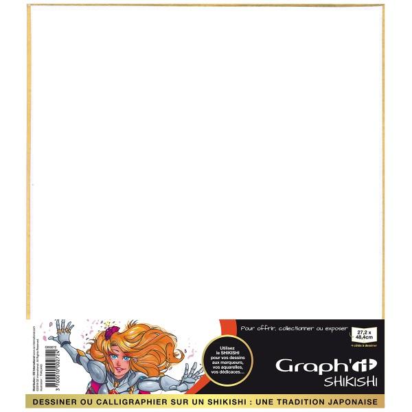Shikishi planche cartonnée - Portrait double face - 27,2 x 48,4 cm - Photo n°1