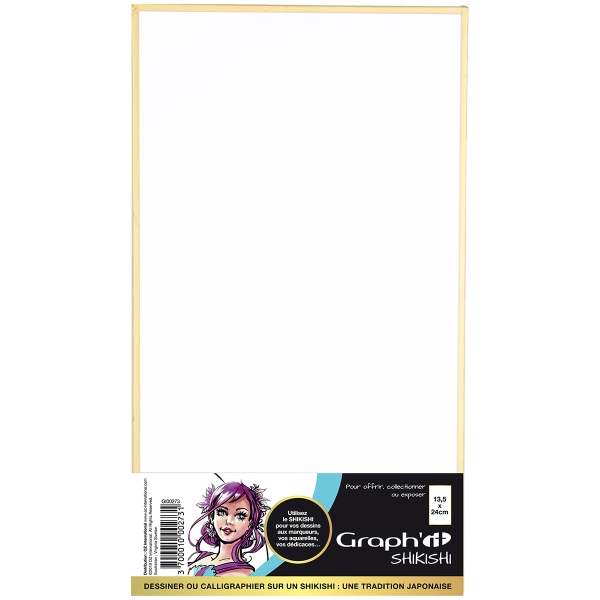 Shikishi planche cartonnée - Paysage - 13,5 x 24 cm - Photo n°1