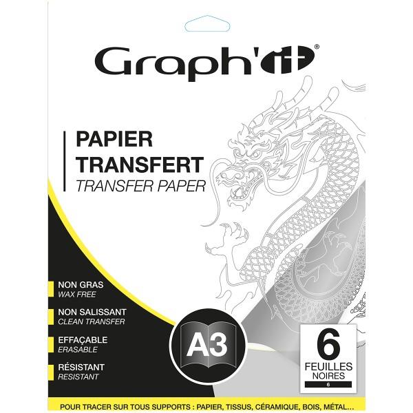 Papier transfert Graph'it - Noir - A3 - 6 feuilles - Photo n°1