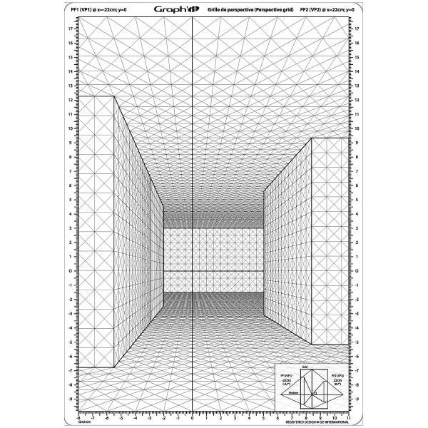 Grille de perspective Graph'it - Rue en perspective frontale - A4 - Photo n°1