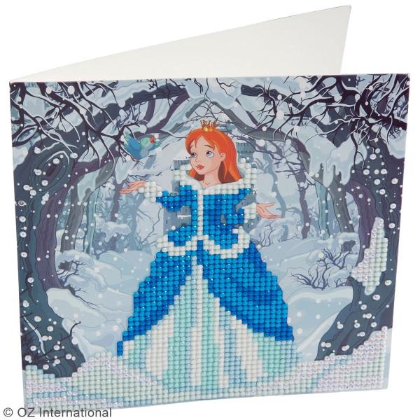 Kit Crystal Art - Carte broderie diamant - Princesse - 18 x 18 cm - Photo n°2