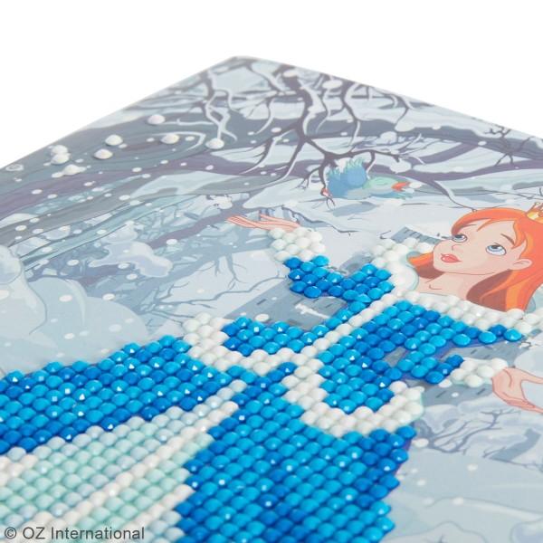 Kit Crystal Art - Carte broderie diamant - Princesse - 18 x 18 cm - Photo n°3