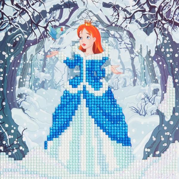 Kit Crystal Art - Carte broderie diamant - Princesse - 18 x 18 cm - Photo n°1