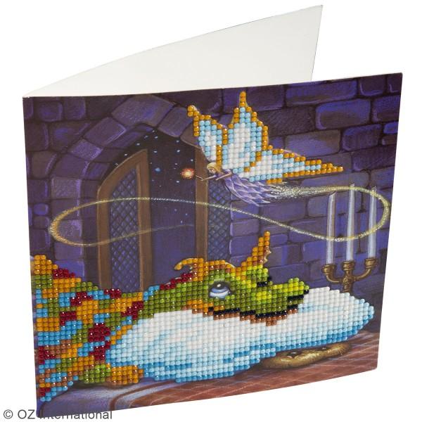 Kit Crystal Art - Carte broderie diamant - Fée et Dragon - 18 x 18 cm - Photo n°2