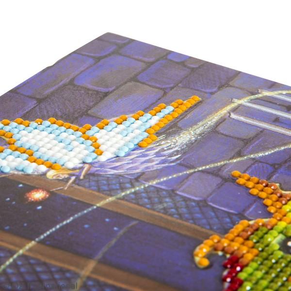 Kit Crystal Art - Carte broderie diamant - Fée et Dragon - 18 x 18 cm - Photo n°3