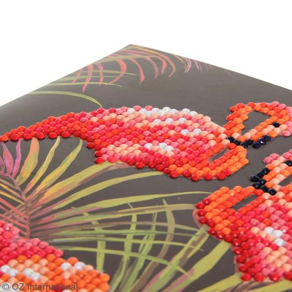 Kit Crystal Art - Carte broderie diamant - Flamant Rose - 18 x 18 cm - Photo n°3