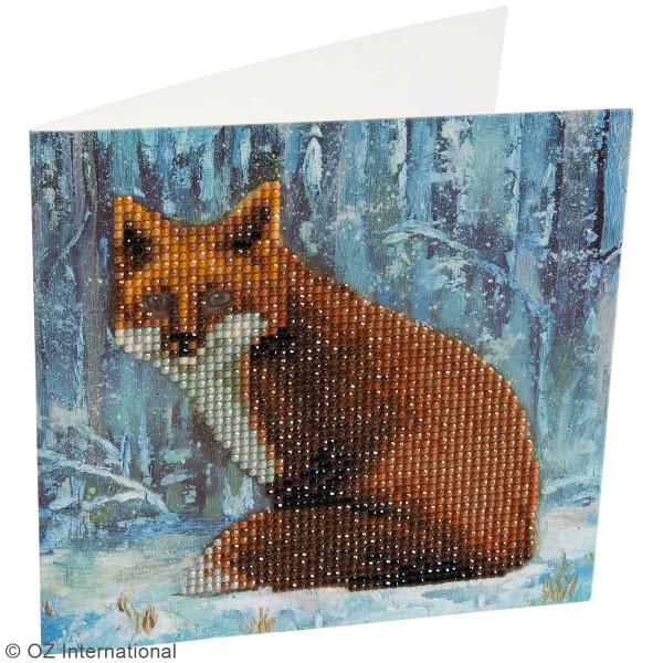 Kit Crystal Art - Carte broderie diamant - Renard - 18 x 18 cm - Photo n°2