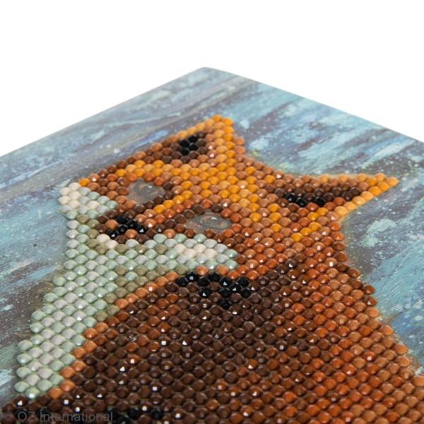 Kit Crystal Art - Carte broderie diamant - Renard - 18 x 18 cm - Photo n°3