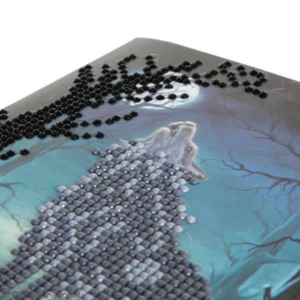 Kit Crystal Art - Carte broderie diamant - Loup - 18 x 18 cm - Photo n°3