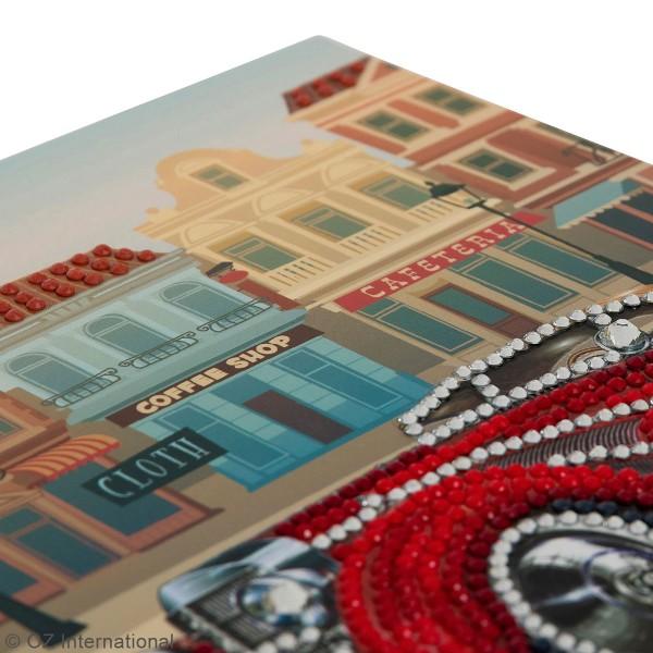 Kit Crystal Art - Carte broderie diamant - Voiture Vintage - 18 x 18 cm - Photo n°3
